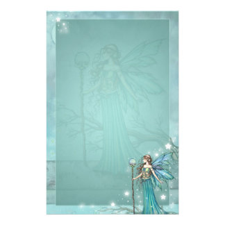 Mystical Fairy Fantasy Art Teal Personalised Stationery