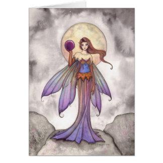 Mystical Fairy with Purple Sphere Fantasy Art Card