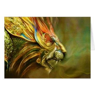 Mystical Fantasy Lion s Head Profile Card