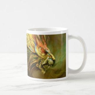 Mystical Fantasy Lion's Head Profile Coffee Mug