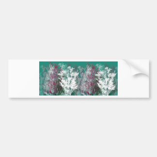 Mystical forest bumper sticker