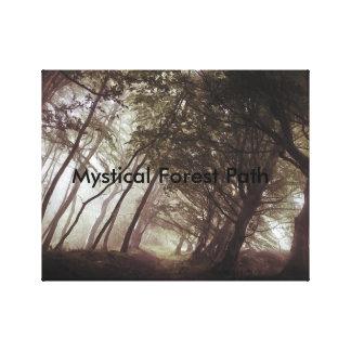 Mystical Forest Path Canvas Print
