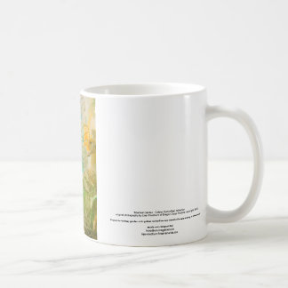 """""""Mystical Garden - Golden Butterflies"""" collection Basic White Mug"""