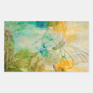 """""""Mystical Garden - Golden Butterflies"""" collection Rectangular Sticker"""