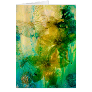 """Mystical Garden - Rays of Gold"" original Lyrical Greeting Card"