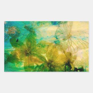"""Mystical Garden - Rays of Gold"" original Lyrical Rectangular Sticker"