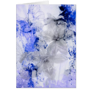 """Mystical Garden - Silver and Blue"" collection Card"