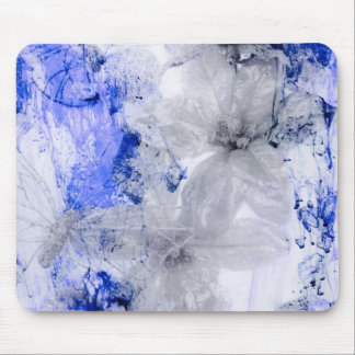 """Mystical Garden - Silver and Blue"" collection Mouse Pad"