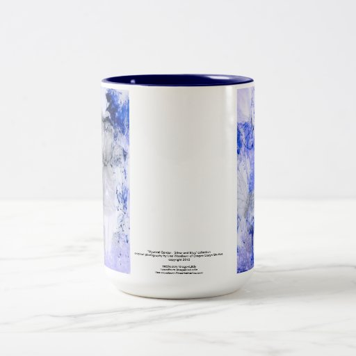 """Mystical Garden - Silver and Blue"" collection Mugs"