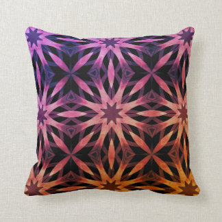 Mystical geometric kaleidoscope cushion