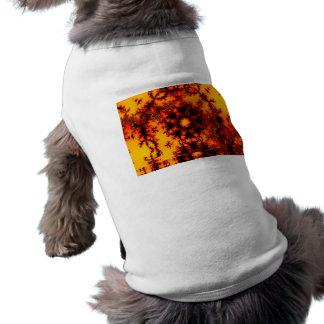 Mystical Golden Fire Lake, Abstract Baroque Sleeveless Dog Shirt