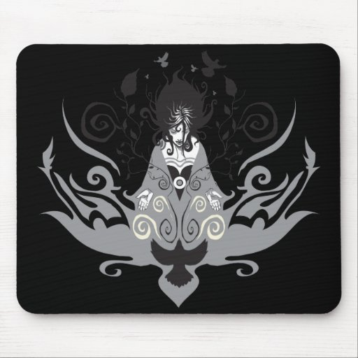 Mystical Gothic Sorceress Mouse Pads