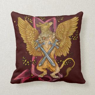 Mystical Gryphon with swords Cushion
