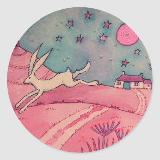 Mystical Hare Round Sticker