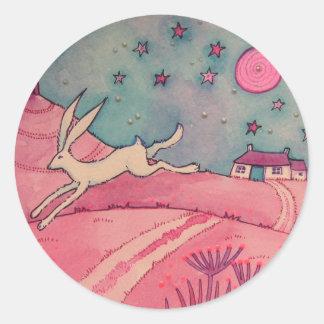 Mystical Hare Round Sticker