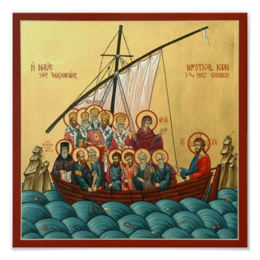 Mystical Icon of the Holy Church Posters