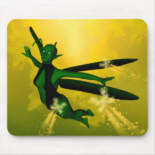 Mystical insects woman mouse pads