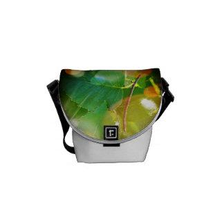 Mystical Leaf Mini Messenger Bag Outside Print