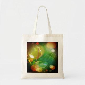 Mystical Leaf Themed Budget Tote Bag