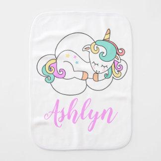 Mystical Magical Unicorn on a Cloud Name Burp Cloth