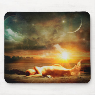 Mystical Mermaid with Moon on Magical Night Mouse Mat