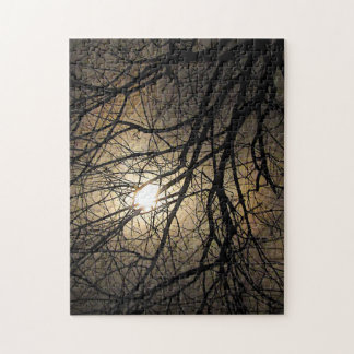 Mystical Moon and Tree Branches Puzzle
