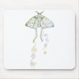 Mystical Moon Moth Mouse Pad