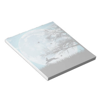 Mystical Moon with Rabbit Silhouette Notepads