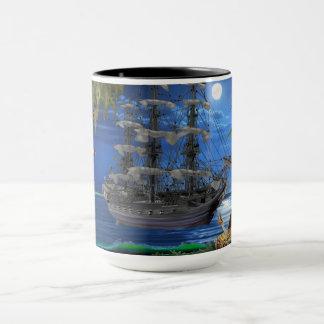 Mystical Moonlit Pirate Ship Mug