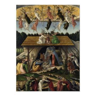 Mystical Nativity 14 Cm X 19 Cm Invitation Card