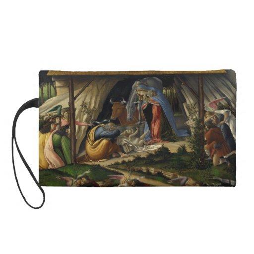 Mystical Nativity by Sandro Botticelli Wristlet Clutch