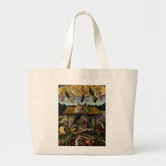 Mystical Nativity by Sandro Botticelli Canvas Bag