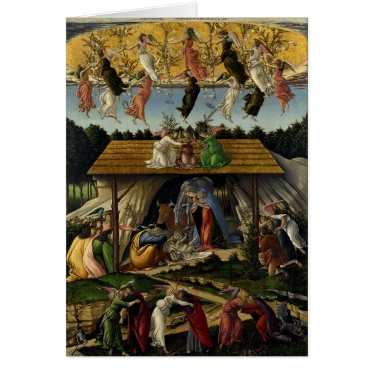 Mystical Nativity by Sandro Botticelli Card