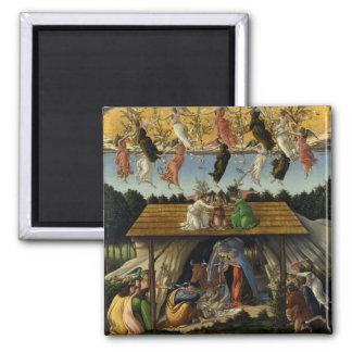 Mystical Nativity by Sandro Botticelli Fridge Magnet