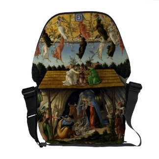 Mystical Nativity by Sandro Botticelli Courier Bag