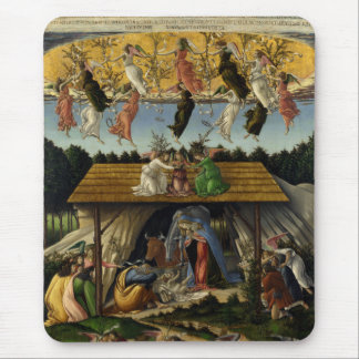 Mystical Nativity by Sandro Botticelli Mouse Pad