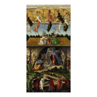 Mystical Nativity by Sandro Botticelli Personalized Photo Card