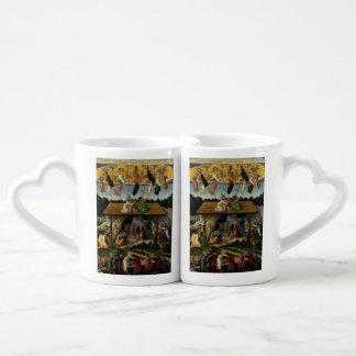 Mystical Nativity by Sandro Botticelli Couple Mugs