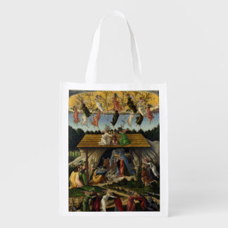 Mystical Nativity by Sandro Botticelli Reusable Grocery Bag