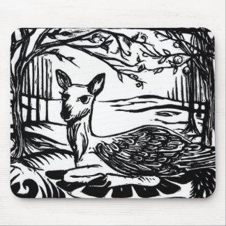 Mystical Peryton Winged Deer Mousepad