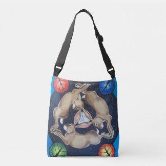 Mystical Rabbit  Trio Moon Seasons Cross Body Bag