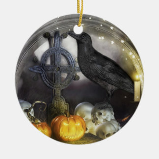Mystical Raven Samhain Double Sided Ornament