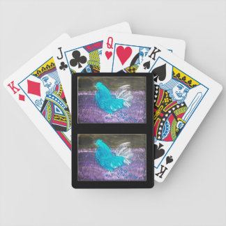 Mystical Rooster Bicycle Playing Cards
