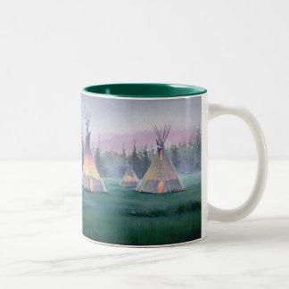 MYSTICAL TIPI by SHARON SHARPE Two-Tone Coffee Mug