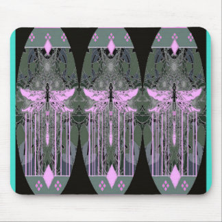 Mystical Violet Dragonflies by Sharles Mouse Pad