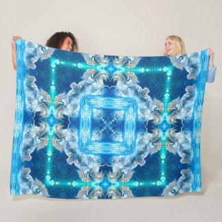 Mystical Water Unicorn Spirit Mandala Fleece Blanket