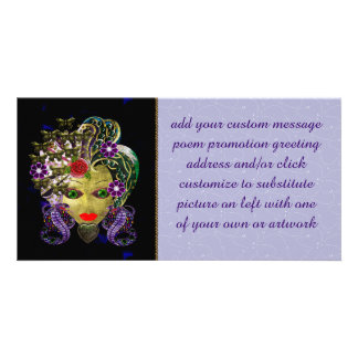 Mystical Witchy Woman Customized Photo Card