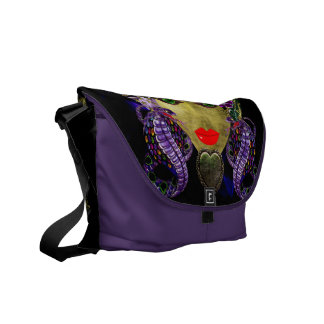 Mystical Witchy Woman Messenger Bags