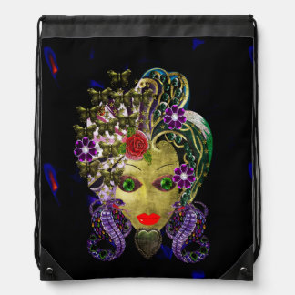 Mystical Witchy Woman Drawstring Bags