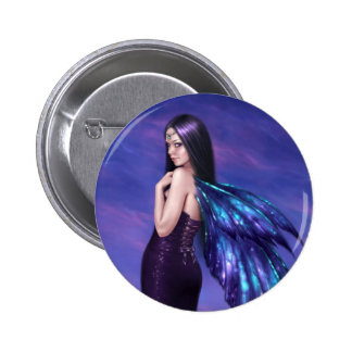 Mystique Beautiful Dark Gothic Fairy Button Badge